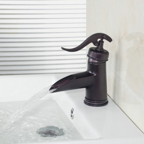 Single Handle Short Waterfall Bathroom Oil Rubbed Black Bronze Deck Mounted 96108-1/10 Basin Sink Faucet,Mixers &Taps
