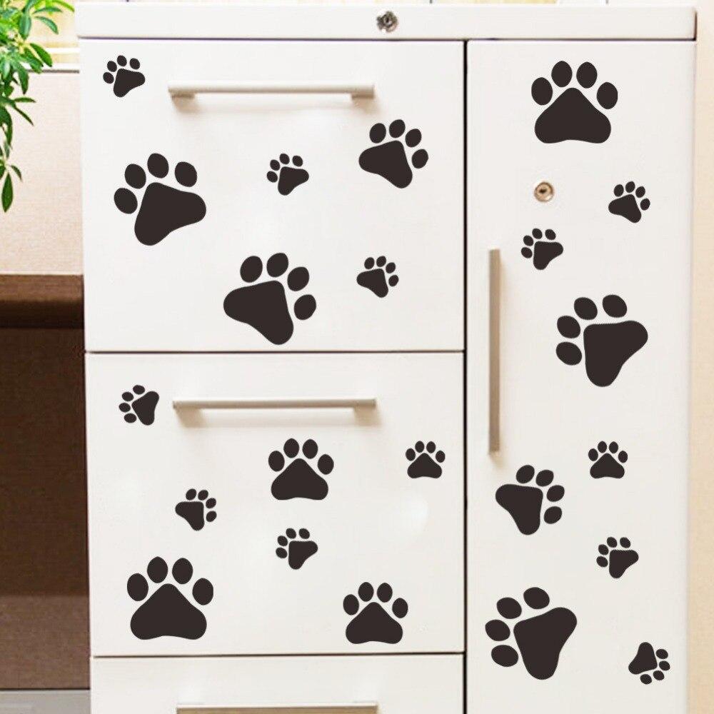Aliexpresscom  Buy  Multicolor Dog Cat Paw Print Wall Stickers - Print stickers cheap