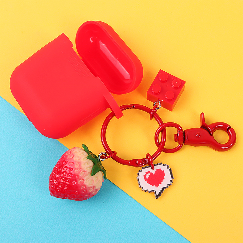2019 Hot New Mini Cute Fruit Keychain Simulation Fruit Cell Phone Charm Bag Keychain Pendant Decor For Women Gifts in Key Chains from Jewelry Accessories