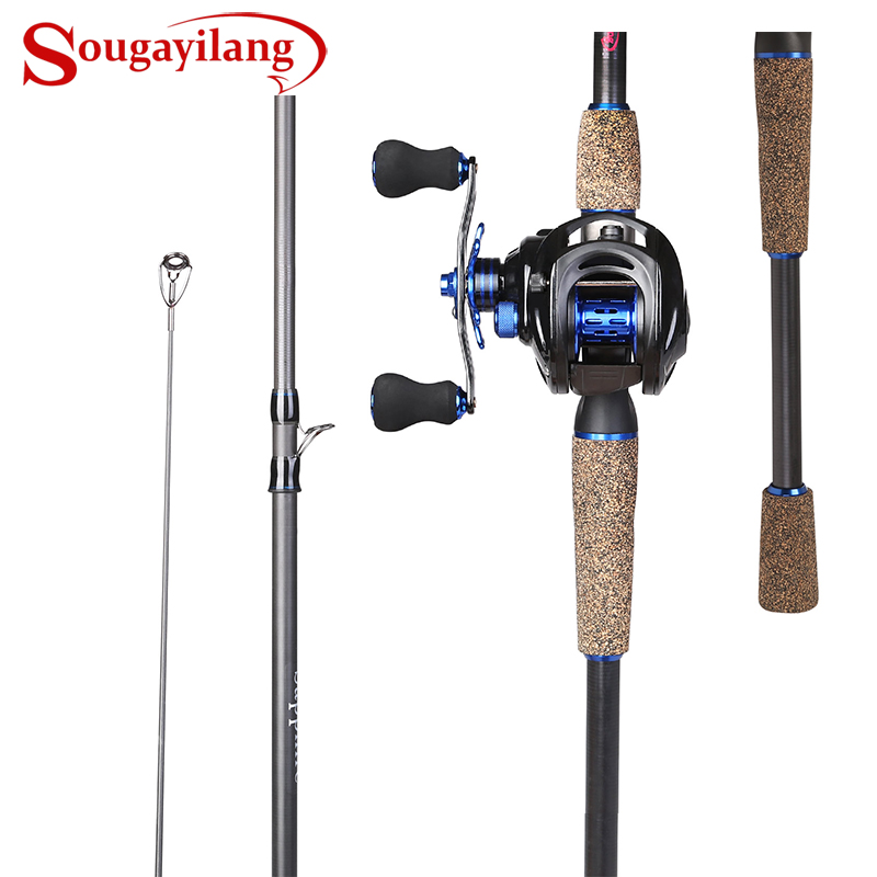 Sougayilang Fishing Rod Combo 1 8 2 4M Carbon Fishing Rod with 9 1BB 7 0