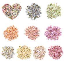 10Pcs/Set 2cm Multicolor Mini Artificial Daisy Flower Heads Sunflower For Wreath DIY Scrapbooking Wedding Party Decoration