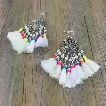 Multi Tassel Earrings Jewelry Earrings f02846ee759da375bf7e2a: white