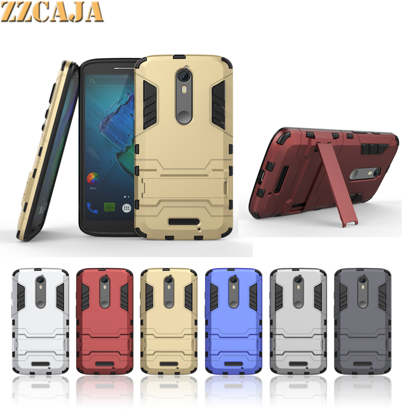 ZZCAJA For Motorola Moto X Force <font><b>Case</b></font> <font><b>2</b></font> in 1 High Quality Armor Kickstand Slim Defender <font><b>Phone</b></font> Cover For Motorola <font><b>Droid</b></font> <font><b>Turbo</b></font> <font><b>2</b></font>