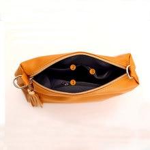 Brand designer women bag soft leather fringe crossbody bag shoulder women messenger bags candy color