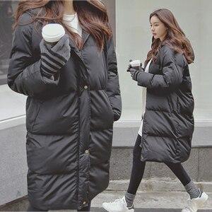 Image 4 - Модная зимняя куртка для женщин 2020 повседневное длинное зимнее пальто женское черное размера плюс женская парка casaco feminino jaqueta feminina