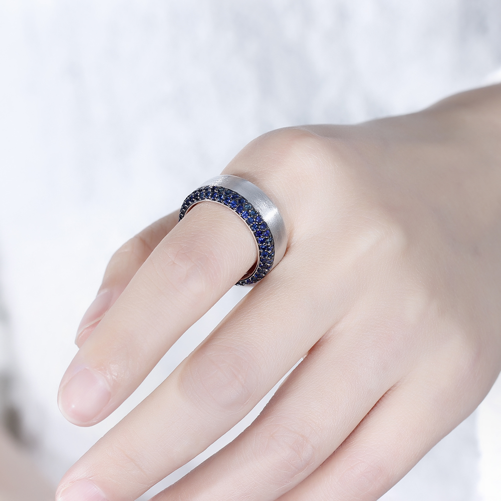 pure sapphire moissanite gem ring - novariancreations.com
