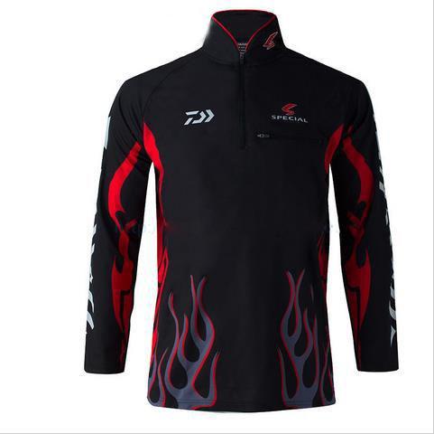 2016 Ropa de pesca Nueva marca Camisa UV UPF> 50 Breathale Sunscreen - Ropa deportiva y accesorios