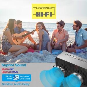 Image 3 - Haut parleur Bluetooth colonne haut parleurs sans fil portables basse Subwoofer stéréo avec mains libres TF carte AUX lecteur MP3 réveil