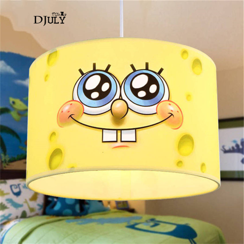 cartoon SpongeBob Handmade fabric pendant lights for children bedroom home deco living room hanging lights creative led lamp e27cartoon SpongeBob Handmade fabric pendant lights for children bedroom home deco living room hanging lights creative led lamp e27