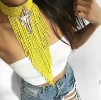 Indian Bohemian Jewelry Handmade Colar Choker Necklace Long Beaded Tassel Necklaces 2016 New Statement Collar Women