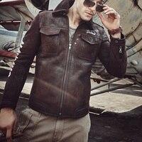 Мужская куртка из овечьей шерсти с вышивкой, B3, летная куртка с буквенным узором, повседневная куртка, красивая мотоциклетная куртка