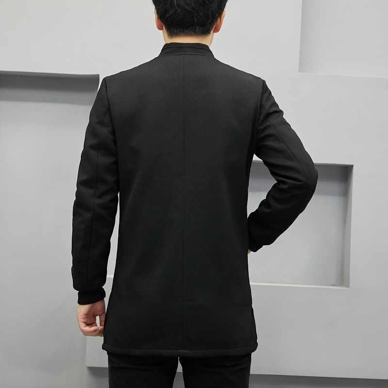 伝統的な中国のスーツメンズ綿リネン唐スーツ男性カンフー太極拳マスター衣装男性ファッションジャケットプラスサイズ CN-017