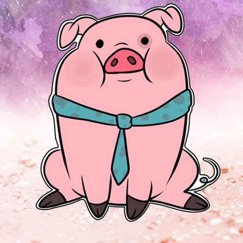 Iconos de animales para ropa cerdo icono Kawaii Pin dibujos animados insignia en mochila insignias acrílicas para pasar accesorios Harajuku