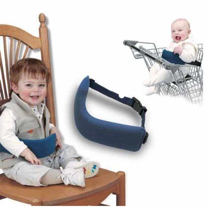 Bebé de asientos de la silla de alimentación asientos cinturón de la silla de bebé portátil cinturón