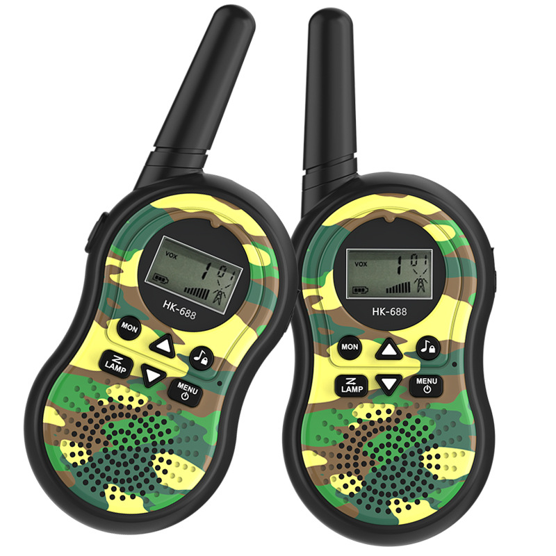 Portable Electronic Toy Radio Interphone Intercom For Children Handheld Camouflage Army Green Toy Walkie Talkies 5.5 * 14.5 CM