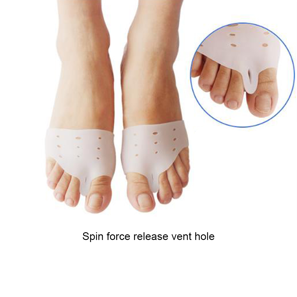 2pcs/pair Silicone Gel Foot Fingers Toe Separator Thumb Valgus Protector Adjuster Guard Feet Care