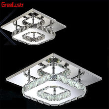 LED Crystal Luminaria Abajur Ceiling Lights Indoor Lighting Modern Lustre de Plafond Home Lighting Aisle lamps Illumination(China)