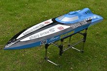 G30C Monohull Vee 30CC Engine Gas RC Racing Speed Boat Almost Ready To Run Blue ARTR