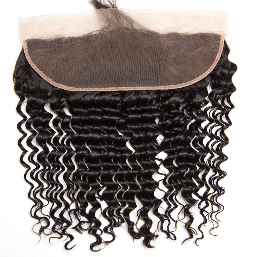 Deep Wave Human hair 3 Bundles With Closure Brazilian Hair Weave Bundles ALIPOP Lace frontal Closure With Baby Hair Non Remy (4)