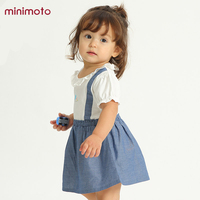 Spring Baby Girls Dress Newborn Infant Short Sleeve Princess Party Cotton Dresses Toddler Ruffles Kids Clothing Autumn Outfits