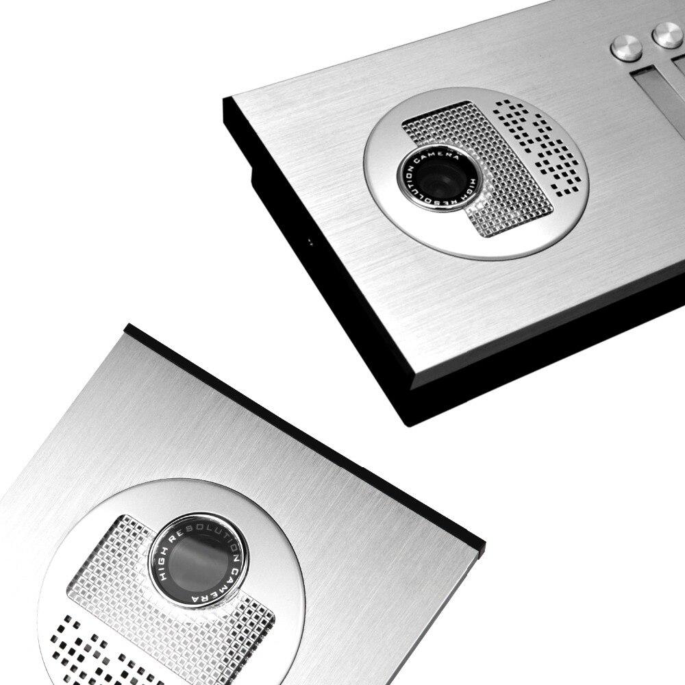 "Image 4 - 2/3/4 Units Apartment intercom system Video Door Phone Intercom Kits Aluminum Alloy Camera 7"" Monitor video Doorbell 7 ID keyfobVideo Intercom   -"