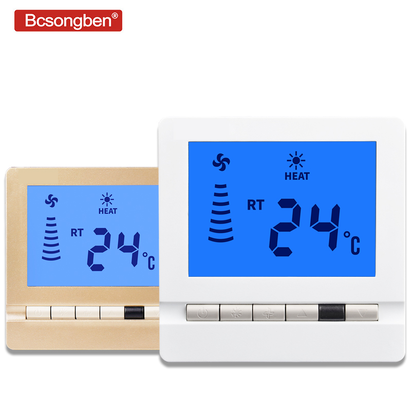 Bcsongben 109d LCD Screen Thermostat Fan  Thermoregulator Temperature  Intelligent Control Thermometer Switch Panel