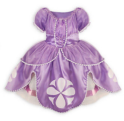 2016 Fancy Dress Baby Girls Kids Clothes Cartoon Sofia Purple Pageant Princess Party Costume Dress long hair princess sofia dress warm butterfly purple performance evening party chrismas new year girls costumes kid clothes