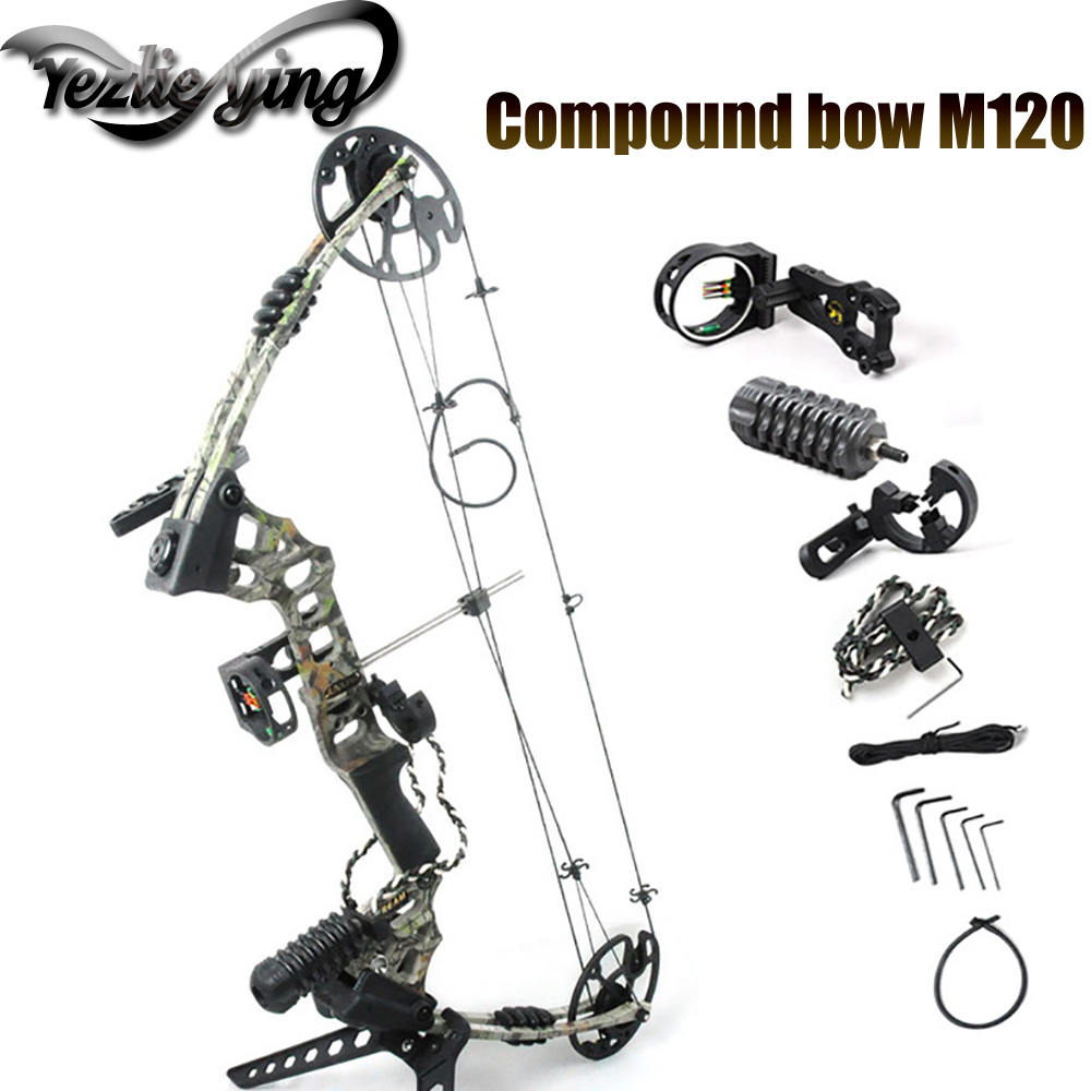Hunting Pulley 20-70 Pounds Aluminum Alloy Compound Bow Competitive Archery Outdoor Hunting 34 Inch Compound Bow