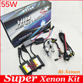 55W super bright design H4 bi-xenon AC ballast All-metal h/l hid conversion kit high beam and low beam