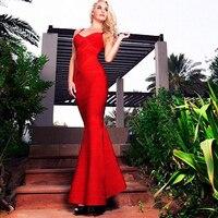 HAGEOFLY Vrouwen Jurk Aan De Vloer Rood Elegant Mermaid Jurken Vestidos Spaghetti Bandage Jurk Zomer vrouwen Sarafans