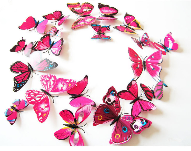 3D Butterfly Wall Stickers For Kids Rooms