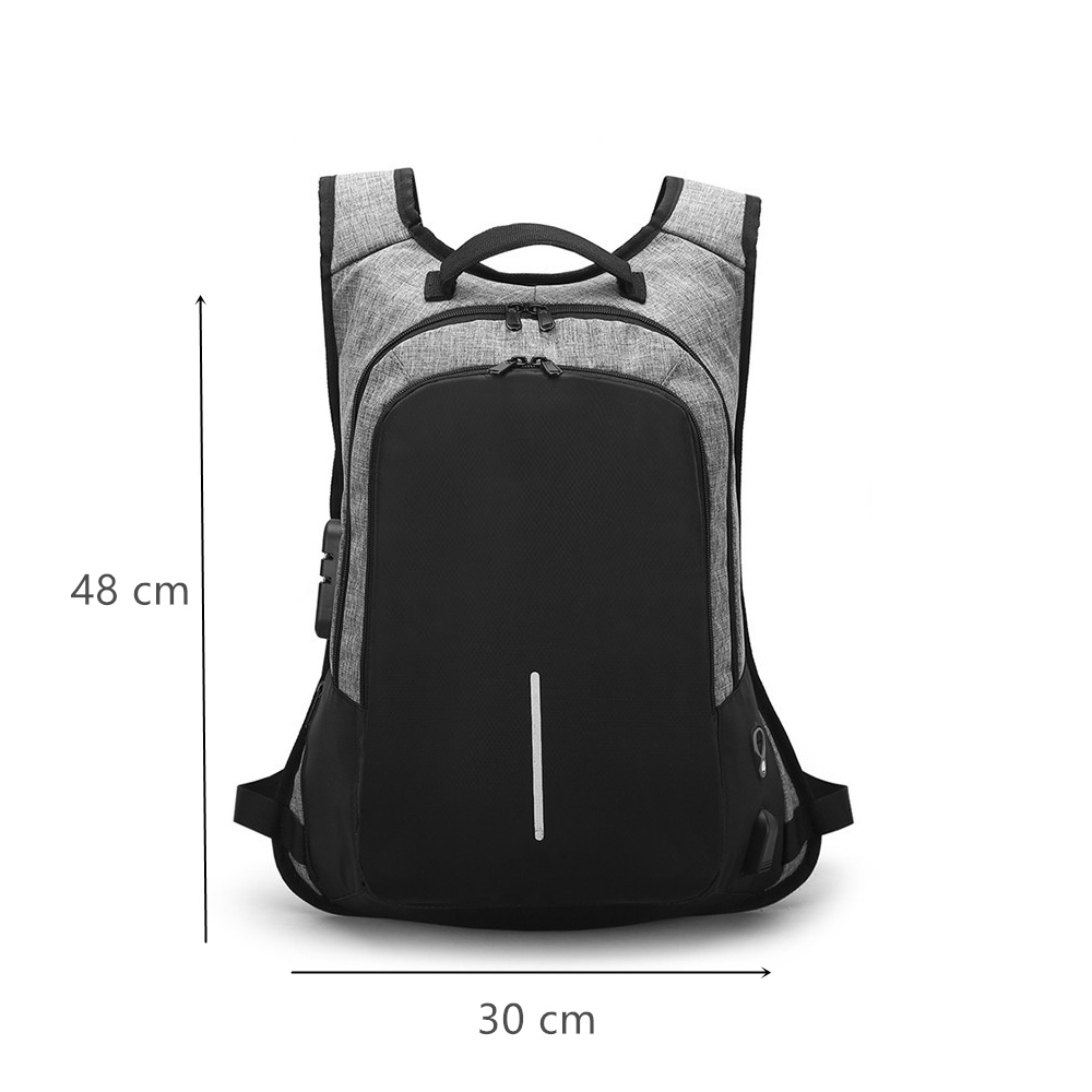 Stylish USB Charging Anti theft backpack Women Anti theft backpack for teenagers Light male Laptop backpack 15 6 inch Men in Backpacks from Luggage Bags