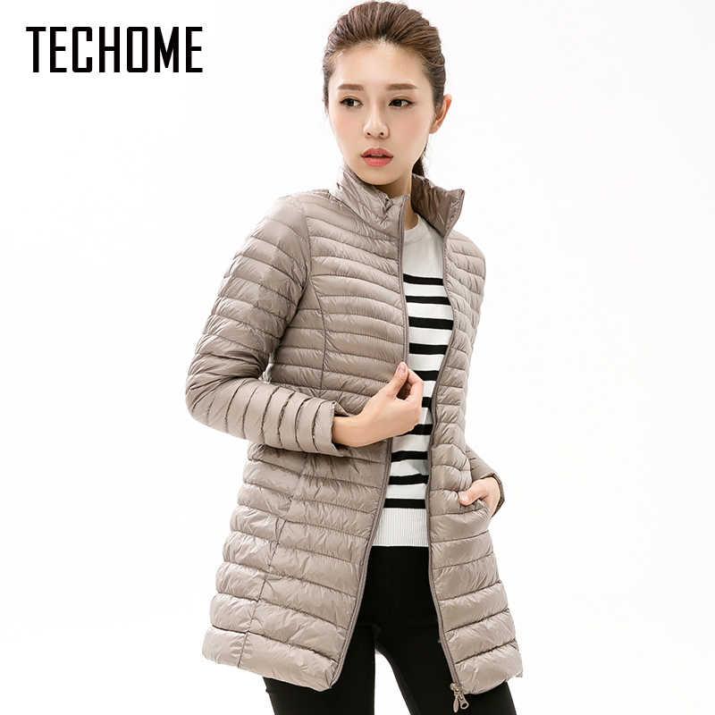 Осенне-зимнее повседневное пальто, парки для женщин, Зимняя женская теплая  куртка, длинное 7132e4e0363