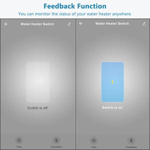 Image 3 - UE WiFi Interruttore del Riscaldatore di Acqua di Caldaia 4400 W Tuya Vita Intelligente App Telecomando ON OFF Timer di Controllo di Voce di Google casa Alexa Eco