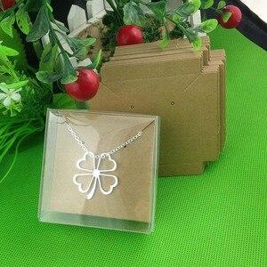 Image 3 - 1 lote = 50 caixa + 50 peças cartão interno 65x65x30mm branco/preto/colar em caixa de brincos/colar/caixa de brincos/colar/anel/joias