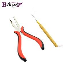 120 шт набор инструментов для наращивания волос плоскогубцы и вытягивающие иглы микро-петли для волос