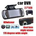 """car styling Dual Lens 2.7"""" LCD Screen A1 Car DVR G-Sensor HD with  Rear Camera 170 degree wide viewing angle camera"""