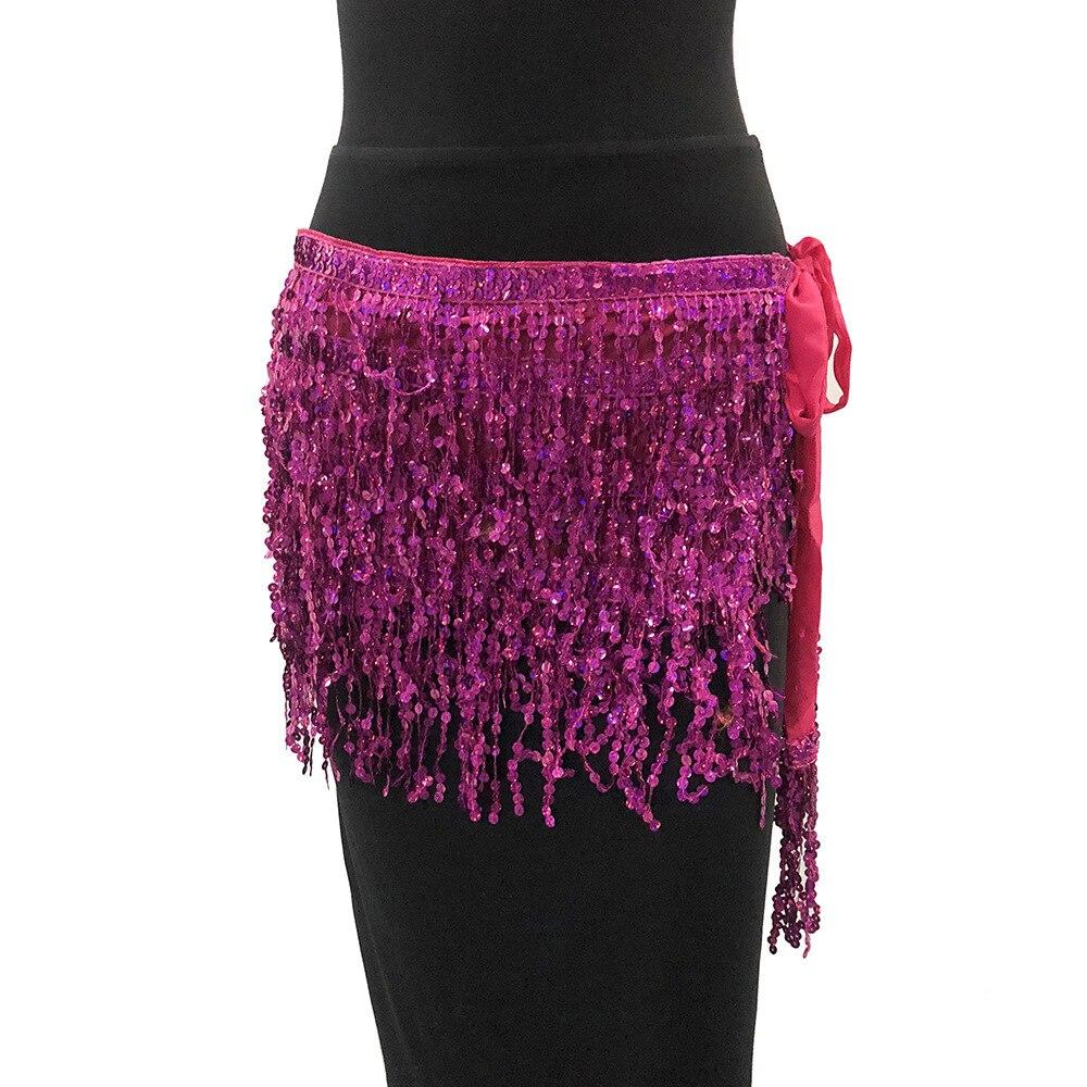 MUXU Золотая юбка с блестками женская юбка jupe faldas jupe femme falda уличная мини etek бахрома сексуальная летняя мода faldas cortas - Цвет: Red rose