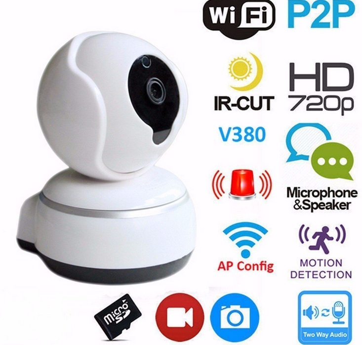 Caméra sans fil WiFi sécurité à domicile caméra IP HD 720 p