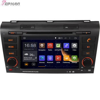Topnavi 7'' Quad Core Android 6.0 Car DVD Play for MAZDA 3 2004 2005 2006 2007 2008 2009 Autoradio GPS Navigation Audio Stereo image