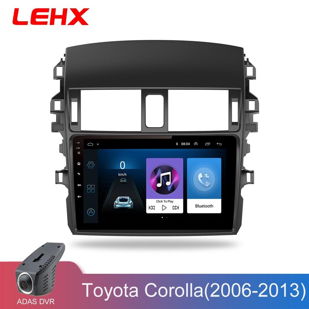 LEHX voiture Android 8.1 Radio lecteur multimédia Navigation GPS pour Toyota Corolla E140/150 2006 2007-2013 Navigation wifi