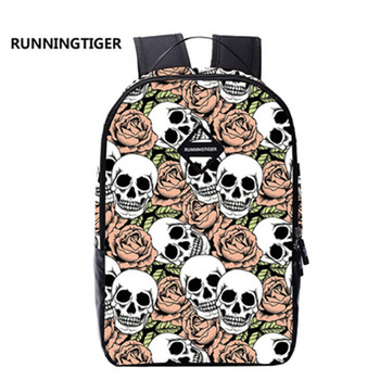 3D Skull School Bag backpack Colorful print