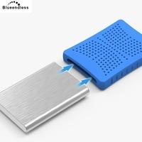Blueendless externe festplatte 2 TB/1 TB/750G/500G/320G mit 2 5 sata hdd gehäuse USB 3.0 stoßfest silikon schützen fall