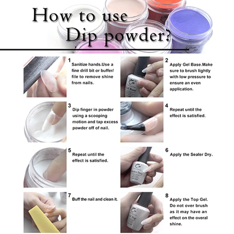 TP French Nail art Starter Kit Dipping Powder 28g/pot Activator Gel ...