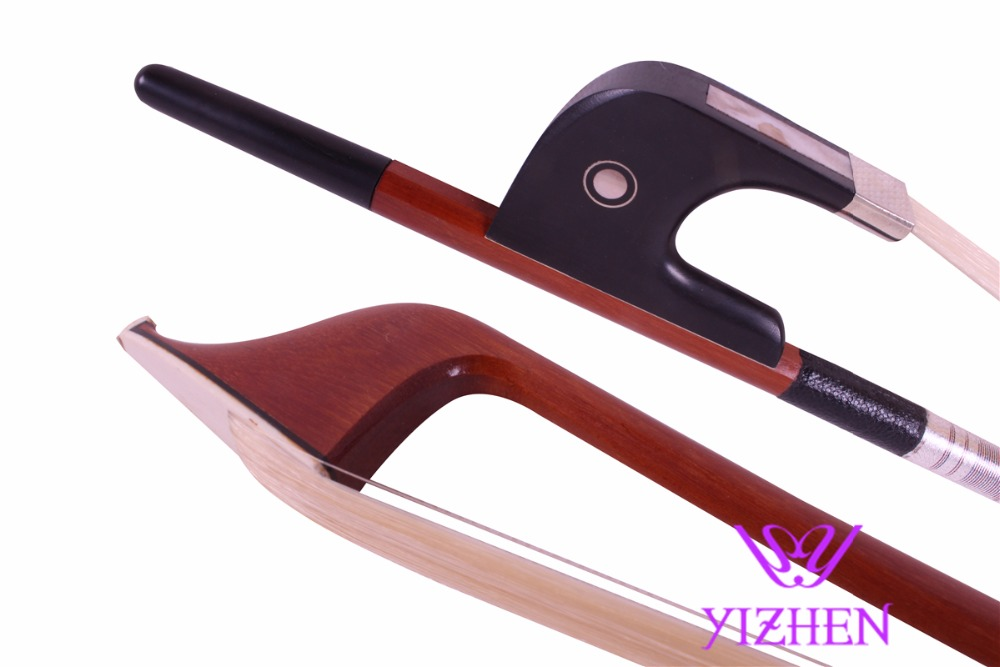 3/4 Bass bow double bass bow ebony silveryarn BH-112 1 pc high quality double bass bow 3 4 baroque bass bow snake wood