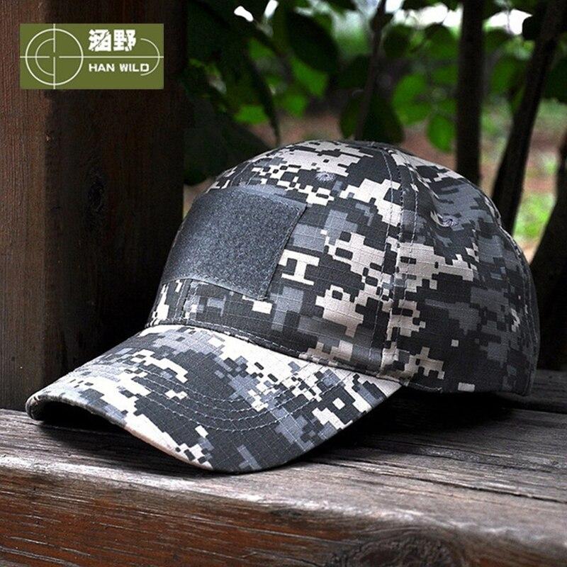 Prix pour HAN SAUVAGE 11 Style Snapback Camouflage Tactique Chapeau Patch Armée Tactique Casquette de baseball Unisexe ACU CP Désert Cobra Camo Chapeaux Pour hommes