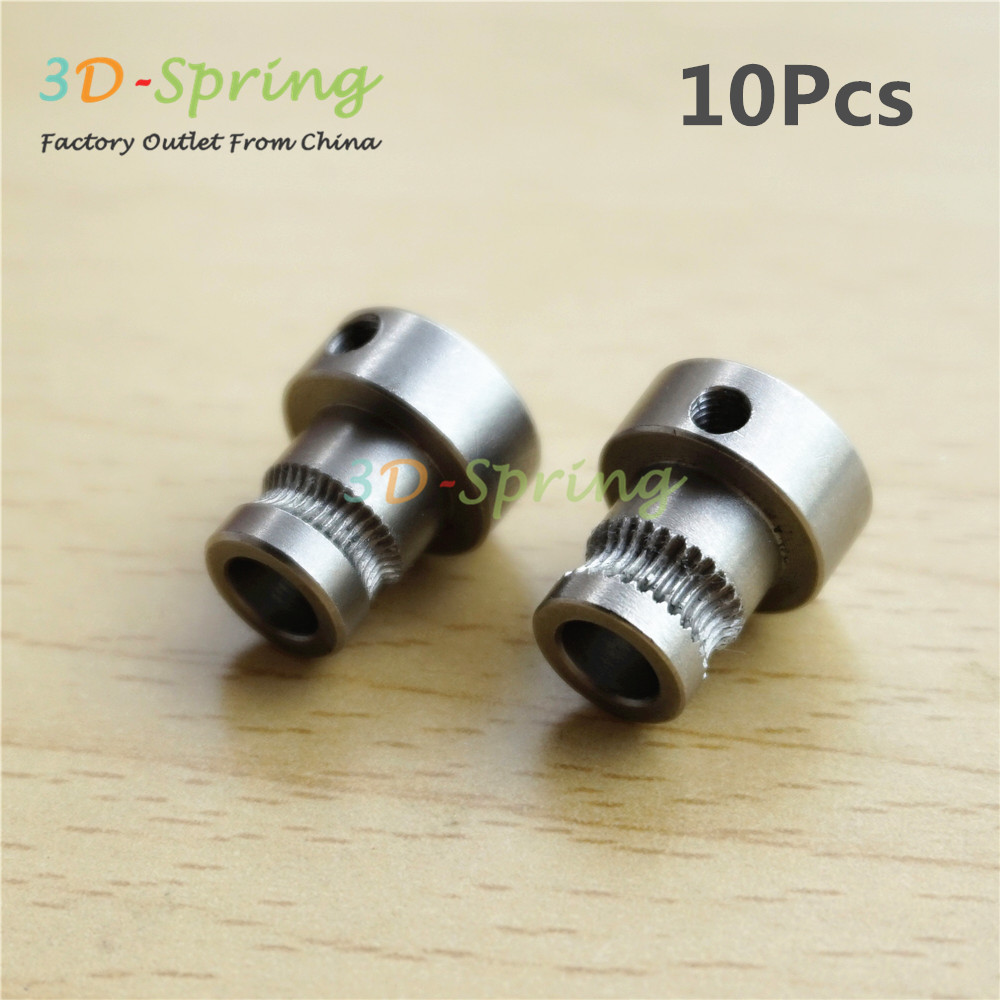 10Pcs 3D Printer Reprap Mendel Extruder Drive Gear For 1.75 3mm Bore 5mm Stainless steel Feeding Hobbed Wheel Squeeze Feed Wheel m6 feed shaft axis reprappro mendel huxley for 3d printer