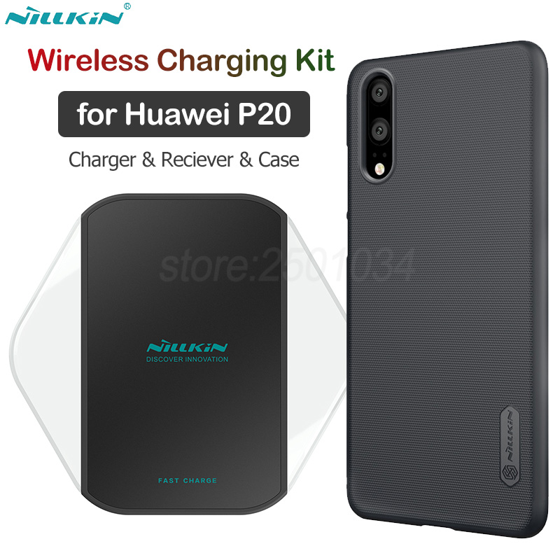 Kit de chargement sans fil Nillkin Qi pour chargeur sans fil Huawei P20 Pro + récepteur de charge USB type C + boîtier PC givré P20/P20 Lite