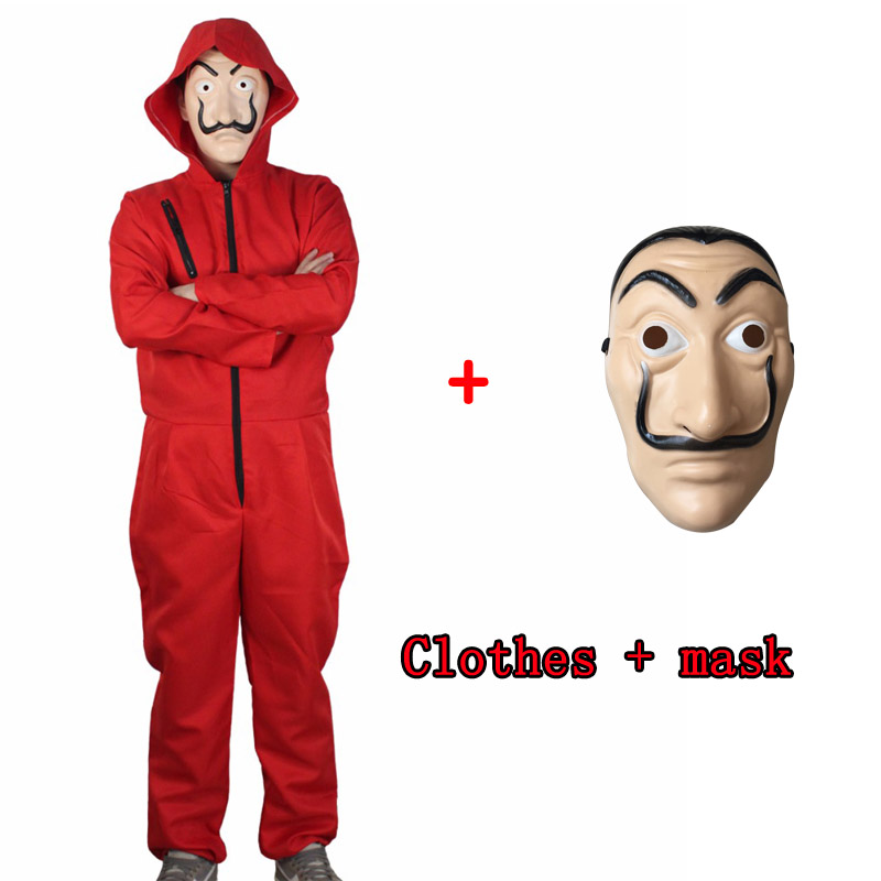 Salvador Dali Movie Costume Money Heist House Paper La Casa De Papel Halloween Cosplay Costumes Evening Parties With Face Care M