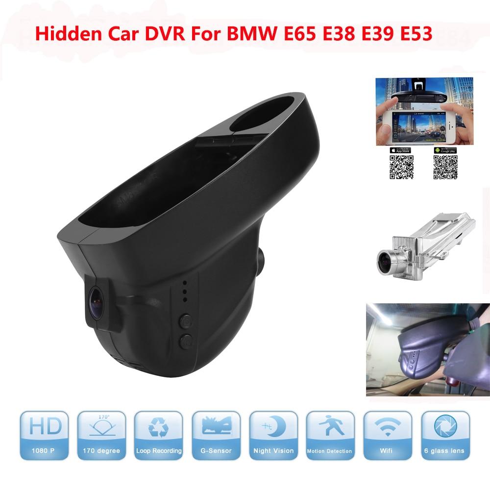 WIFI Car DVR For BMW Car Low spec E65 E38 E39 E53 Full HD 1080P 170 Degree Car DVR Camera Video Recorder Hidden Installation hidden install wifi car dvr for bmw car low spec e90 e91 e87 e84 hd 1080p 170 wide angle support g sensor motion detection